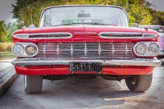 Beautiful vintage old red classic car Royalty Free Stock Image