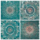 Beautiful vintage oriental designed tiles wall, can be used as background Royalty Free Stock Photos