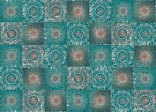Beautiful vintage oriental designed tiles wall, can be used as background Stock Image