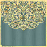 Beautiful Vintage Ornament Template Royalty Free Stock Image