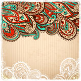 Beautiful Vintage paisley Royalty Free Stock Image