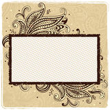 Beautiful vintage  paisley ornamental frame Royalty Free Stock Photo