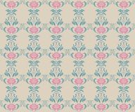 Beautiful vintage pattern with bouquets of pink flowers Royalty Free Stock Images