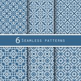 A pack of vintage pattern designs Stock Images