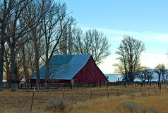 Beautiful Vintage Red Country Barn After Sundown H Stock Images