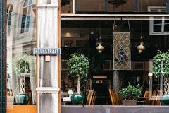 Beautiful vintage restaurant in The Hague Royalty Free Stock Photo