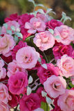 Beautiful vintage roses of artificial flowers Stock Photo