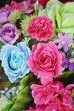Beautiful vintage roses of artificial flowers Royalty Free Stock Photo