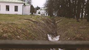 Beautiful vintage Russian monastery stock video
