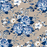 Beautiful vintage seamless floral pattern background. Flower bouquets of roses. Stock Photos