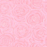 Beautiful vintage seamless pattern with pink roses. Royalty Free Stock Photography