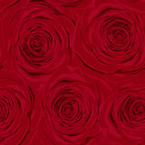 Beautiful vintage seamless pattern with red roses Royalty Free Stock Photo