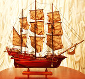 Beautiful vintage ship model. Very beautiful vintage ship model Royalty Free Stock Images