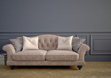 Beautiful vintage sofa. 3d rendering Royalty Free Stock Photos