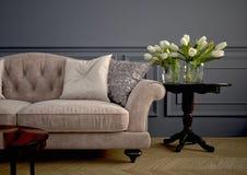 Beautiful vintage sofa. 3d rendering Royalty Free Stock Photo