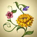 Beautiful Vintage Spring And Summer Flowers Background Royalty Free Stock Images