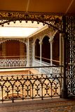 The beautiful vintage steel fabrications in the palace of bangalore. Bangalore Palace, a palace located in Bangalore, Karnataka, India. Construction of a Royalty Free Stock Images