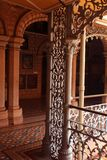 The beautiful vintage steel fabrications in the palace of bangalore. Bangalore Palace, a palace located in Bangalore, Karnataka, India. Construction of a Stock Photography
