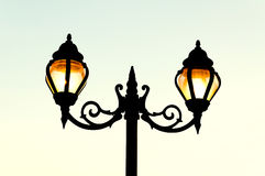 Beautiful vintage Street antique style lamp post Royalty Free Stock Photos