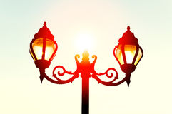 Beautiful vintage Street antique style lamp post Royalty Free Stock Images