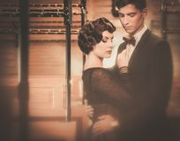 Beautiful vintage style couple Royalty Free Stock Photos