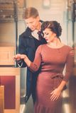 Beautiful vintage style couple Royalty Free Stock Image