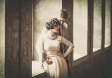 Beautiful vintage style couple Royalty Free Stock Photography