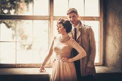 Beautiful vintage style couple Stock Photos
