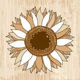 Beautiful vintage sunflower for your design Stock Photos