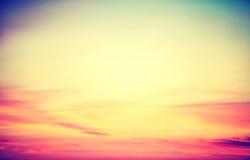 Beautiful vintage sunset Stock Photography