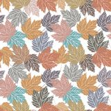 Beautiful vintage tree leaves seamless Royalty Free Stock Photography