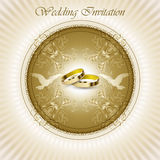 Beautiful vintage wedding invitation card Stock Photography