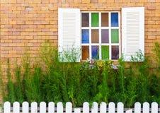 Beautiful vintage window stock image