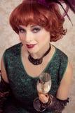 Beautiful vintage woman Royalty Free Stock Photos
