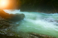 Beautiful Vintgar Gorge near Bled, Slovenia Royalty Free Stock Images