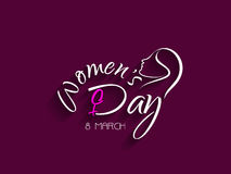 Beautiful violet color womens day card design. Stock Images