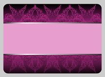 Beautiful violet gift card Stock Images