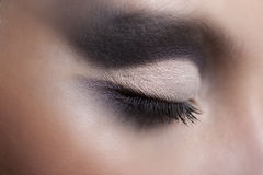 Beautiful violet makeup Royalty Free Stock Photography