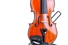Beautiful violin isolated on white background Stock Photos