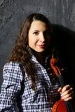 Beautiful violin musician Stock Images