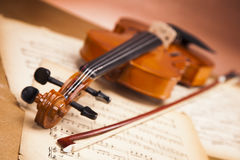 Beautiful violin and notes! Stock Images