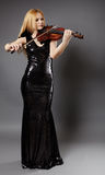 Beautiful violin player Royalty Free Stock Image