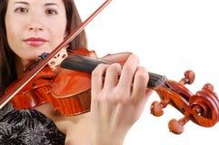 Beautiful violinist Stock Photo