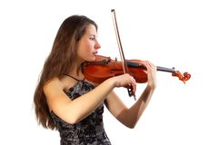 Beautiful violinist Royalty Free Stock Photo