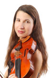 Beautiful violinist Royalty Free Stock Photography