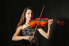 Beautiful violinist Stock Photo