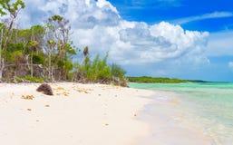 Beautiful virgin beach at Coco Key in Cuba Stock Photo