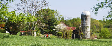 Beautiful Virginia Farm in Springtime stock photography