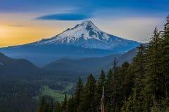 Beautiful Vista of Mount Hood in Oregon, USA Stock Photos
