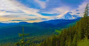Beautiful Vista of Mount Hood in Oregon, USA. Royalty Free Stock Image
